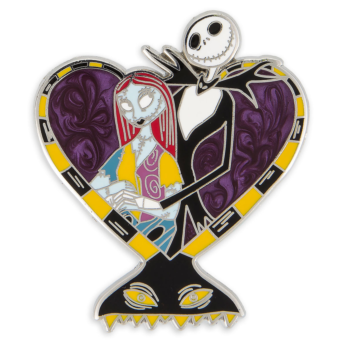 Disney Nightmare Before Christmas Pin - Jack and Sally Heart