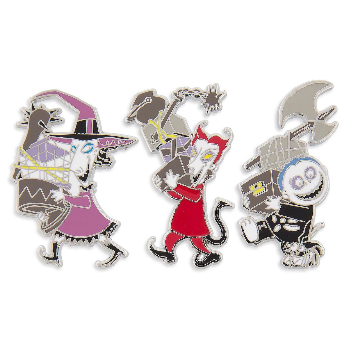 Disney Pin Set - Lock, Shock, and Barrel - Nightmare Before Christmas