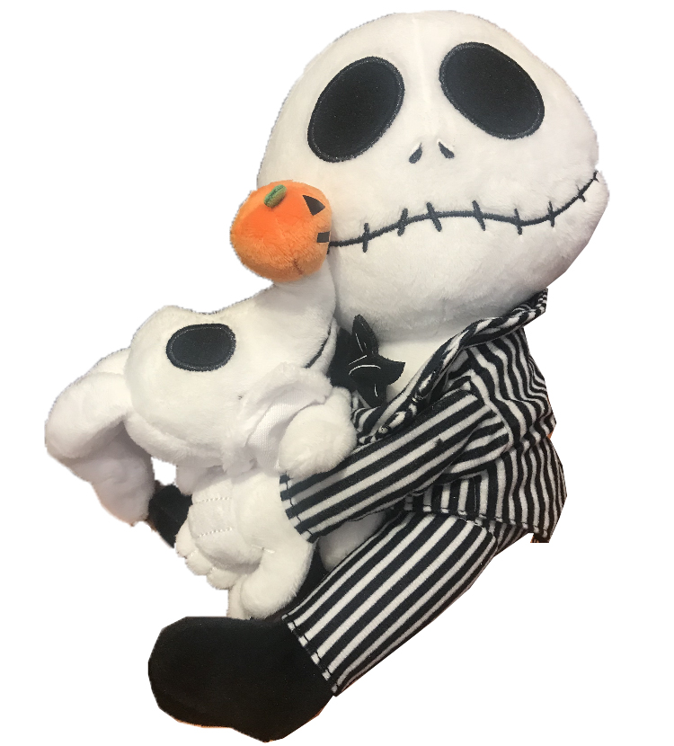 disney plush jack skellington and zero nightmare before christmas