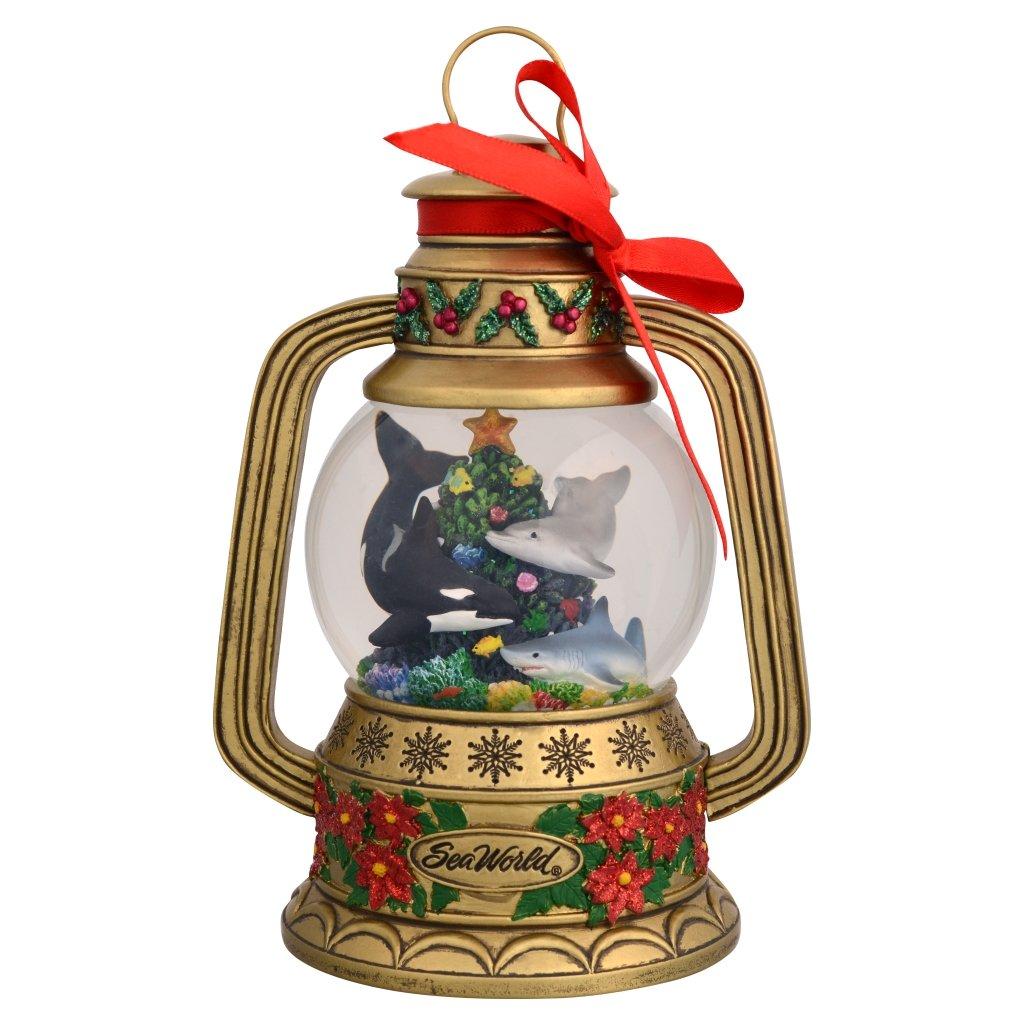 Sea World Snow Globe - Christmas Gold Lantern - Shamu and Friends