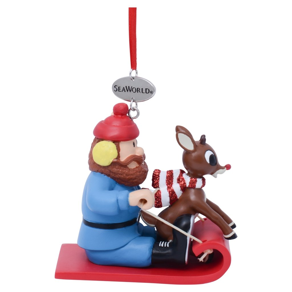 sea world christmas ornament yukon cornelius with rudolph - Rudolph Christmas Decorations
