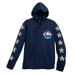 Disney Zip Hoodie for Adults - Mickey Mouse Americana - Blue
