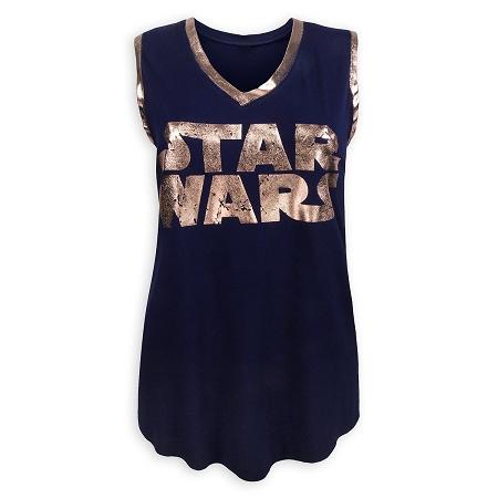 e4d8f56327906f Disney Boutique Tank Top for Women - Star Wars Logo - Metallic
