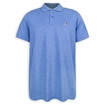 Disney Polo Shirt for Men - Mickey Mouse Pique Cotton - Blue