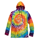 Disney Hooded Shirt for Adults - Mickey Mouse Tie Dye - Long Sleeve