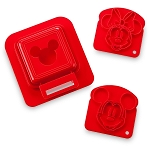 Disney Sandwich Stamp & Crust Cutter Set - Mickey and Minnie Mouse