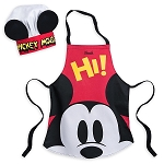 Disney Child Chef Hat and Apron Set - Mickey Mouse - Disney Eats