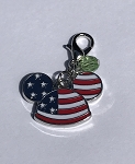 Disney Dangle Charm - Charmed in the Park - Mickey Patriotic Ear Hat
