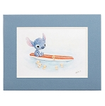 Disney Hanson Art Print - Swimming Lessons - Stitch on Surf Board