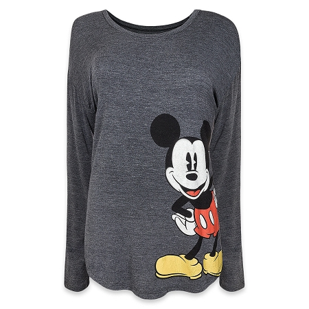 6e39837e Disney Long Sleeve Shirt for Women - Timeless Mickey Mouse - Gray