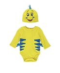 Disney Bodysuit for Baby - Flounder with Hat - Finding Nemo