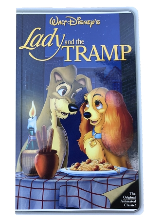 Disney Notebook Vhs Tape Illusion Lady And The Tramp Sta