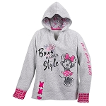 Disney Hooded Pullover for Girls - Sweet Minnie Mouse