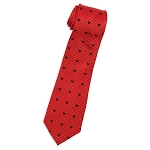 Disney Silk Tie - Mickey Mouse Striped - Red
