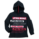 Disney Hoodie for Boys - Star Wars Logo in Colors - Black