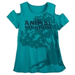 Disney Top for Women - Animal Kingdom 20th Anniversary Cold-Shoulder