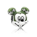 Disney Pandora Charm - Flower and Garden - Mickey Mouse Topiary