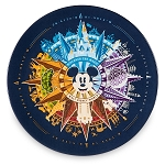 Disney Dessert Plate - Mickey Mouse Compass - Four Parks