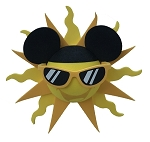Disney Antenna Topper - Mickey Mouse Sun with Sunglasses