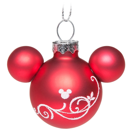 Disney Ornament Set Mickey Mouse Icon Red And White Set Of 6