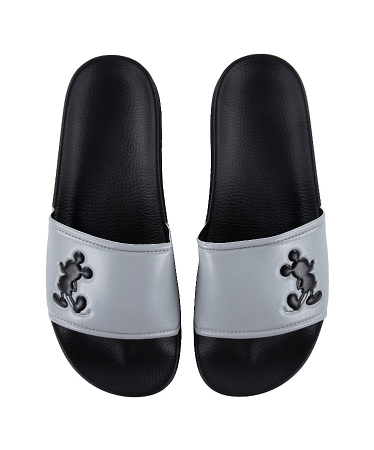 Disney Sandals for Men - Mickey Mouse Icon - Black and Gray