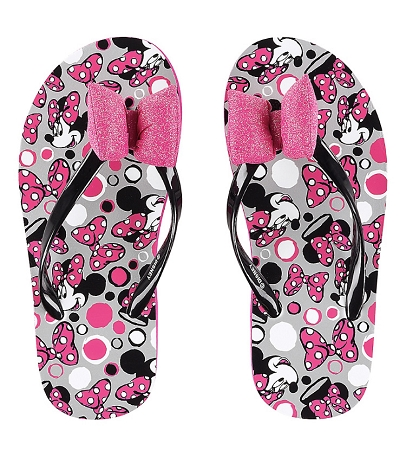 21b0ce26eae Disney Flip Flops for Girls - Minnie Mouse Pink Bow - Youth