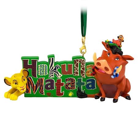 Disney Christmas Ornament The Lion King Hakuna Matata
