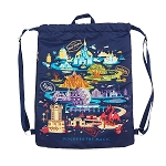 Disney Cinch Sack Backpack - Walt Disney World Passport