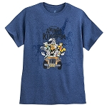 Disney Adults Shirt - Mickey Mouse and Friends Safari - Blue