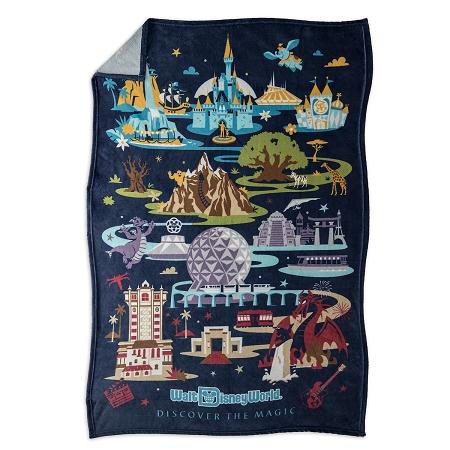 Disney Throw Blanket - Walt Disney World Resort Map