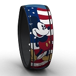 Disney Magic Band - Patriotic Mickey Mouse - Red White Blue