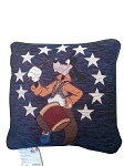 Disney Throw Pillow - Patriotic - Goofy Playing Drums