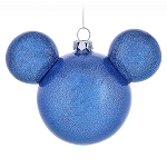 Disney Christmas Ornament - Mickey Mouse Icon - Blue