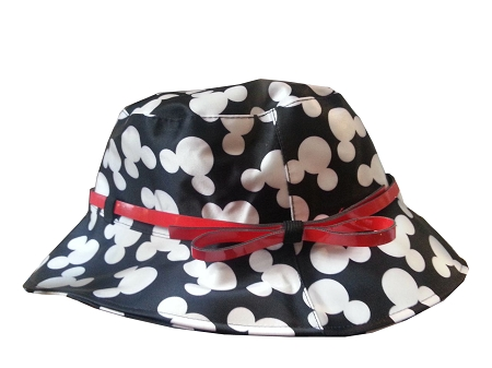 Disney Hat - Rain Hat - Mickey Mouse Icons - Black & White