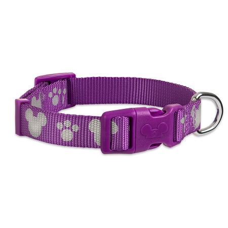 Disney Tails Dog Collar - Mickey Mouse & Paw Prints - Purple