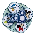 Disney 2018 Pin - Mickey Mouse and Friends - Spinner