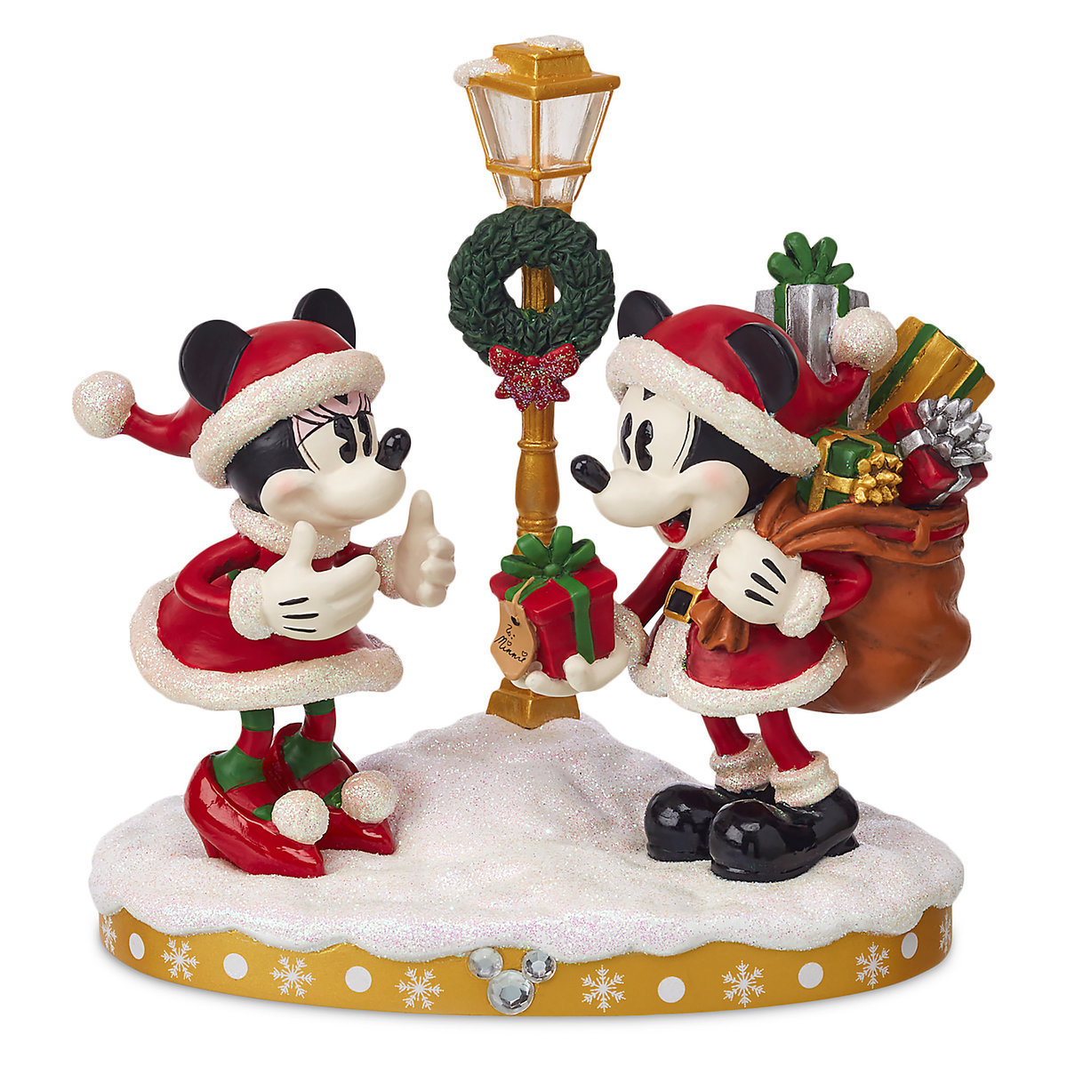 b69e9f7e6f7b0 Add to My Lists. Disney Christmas Figurine - Santa Mickey   Minnie Mouse -  Light-Up