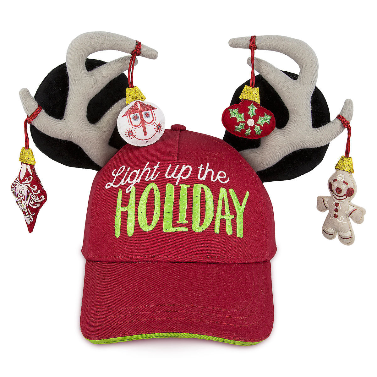 3e185725863cf Disney Hat - Baseball Cap - Light up the Holiday - Reindeer