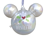 Disney Christmas Ornament - Mickey Mouse Ears - Under the Mistletoe