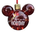 Disney Christmas Ornament - Mickey Mouse Ears - Light Up the Holiday