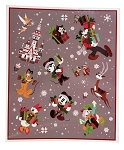 Disney Holiday Throw Blanket - Mickey and Friends - Nordic Winter