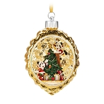 Disney Christmas Ornament - Mickey and Minnie Light Up Scene