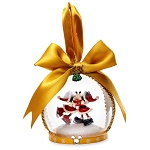 Disney Holiday Ornament - Turn of the Century - Mickey & Minnie Globe
