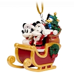Disney Holiday Ornament - Turn of the Century - Mickey & Minnie Sleigh