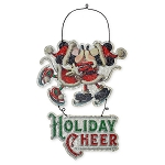 Disney Door Hanger Sign - Mickey and Minnie Mouse - Holiday Cheer