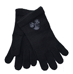 Disney Gloves for Adults - Mickey Mouse Icon Sequined - Black