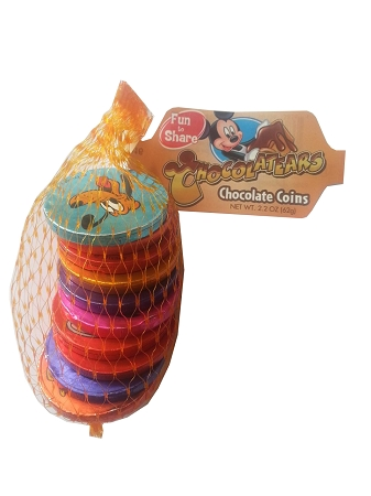 Disney Chocolatears Candy - Chocolate Coins - Mickey and Friends