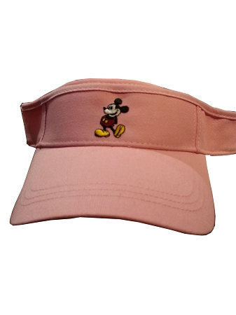 364e7554e90 Disney Sun Visor Hat - Mickey Mouse Standing - Pink