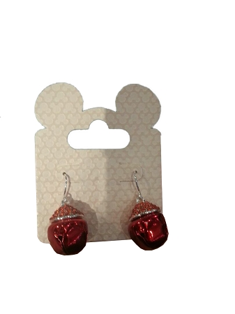 Disney Dangle Earrings - Christmas Bells - Red