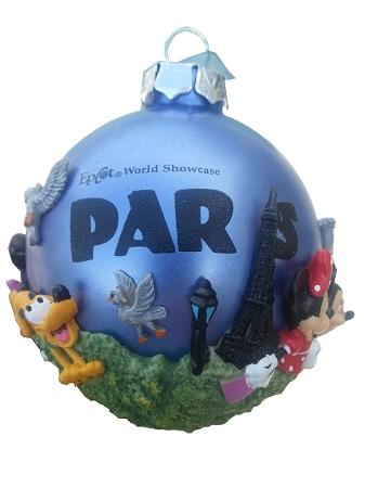 Paris Christmas Ornament.Disney Christmas Ornament Epcot World Showcase Paris